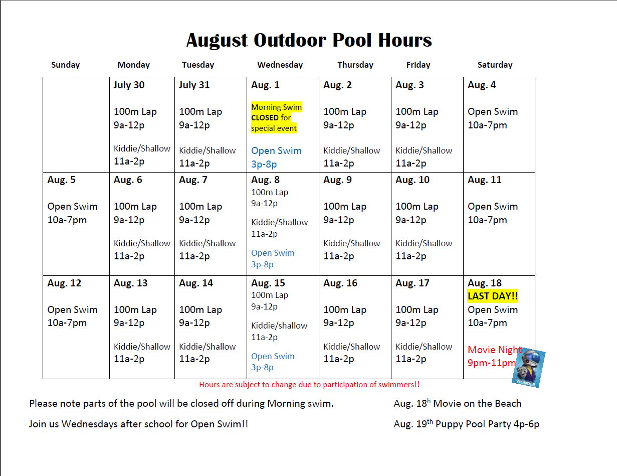 Oak Ridge Recreation Parks Expanded Schedule For The Outdoor